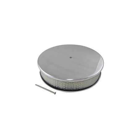 Eckler's Premier  Products 33-315683 Air Cleaner, Round Smooth Polished Aluminum, 14