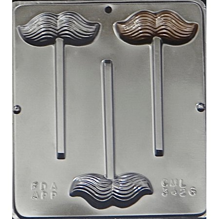 3426 Mustache Lollipop Chocolate Candy Mold