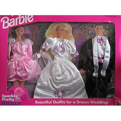 barbie sparkle pretty fashions - beautiful wedding outfit...