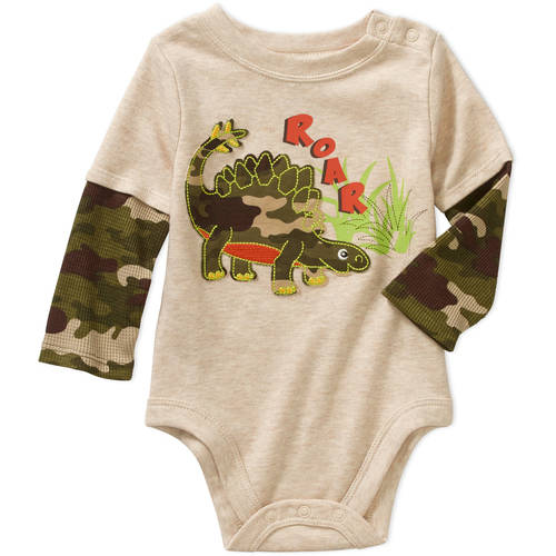 Garanimals Newborn Baby Boys' Long Sleeve Hangdown Graphic Bodysuit
