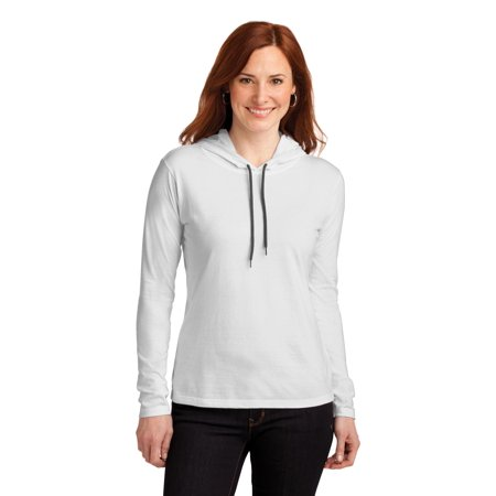 Anvil Women's Lightweight Unlined Hooded - Layered Hooded Tee