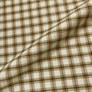 "Wellington Light Brown Tartan Check Fabric - 54"" by the Yard"
