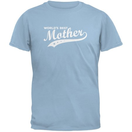 Mother's Day - World's Best Mother Light Blue Adult