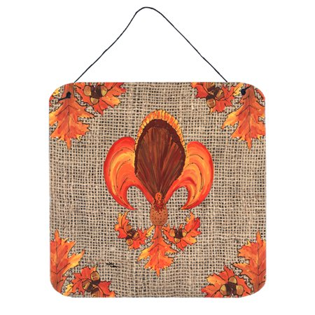 Thanksgiving Turkey Fleur de lis Aluminium Metal Wall or Door Hanging - Classroom Door Ideas For Thanksgiving