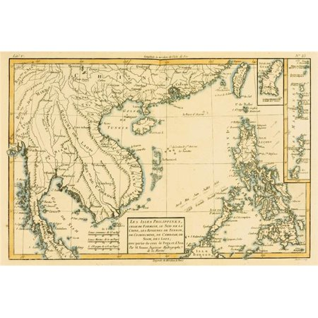 Posterazzi DPI1859961LARGE Map of The Phillipinnes Circa.1760 From Atlas De Toutes Les Parties Connues Du Globe Terrestre by Cartographer Rigo Poster Print, Large - 34 x 22 - image 1 of 1