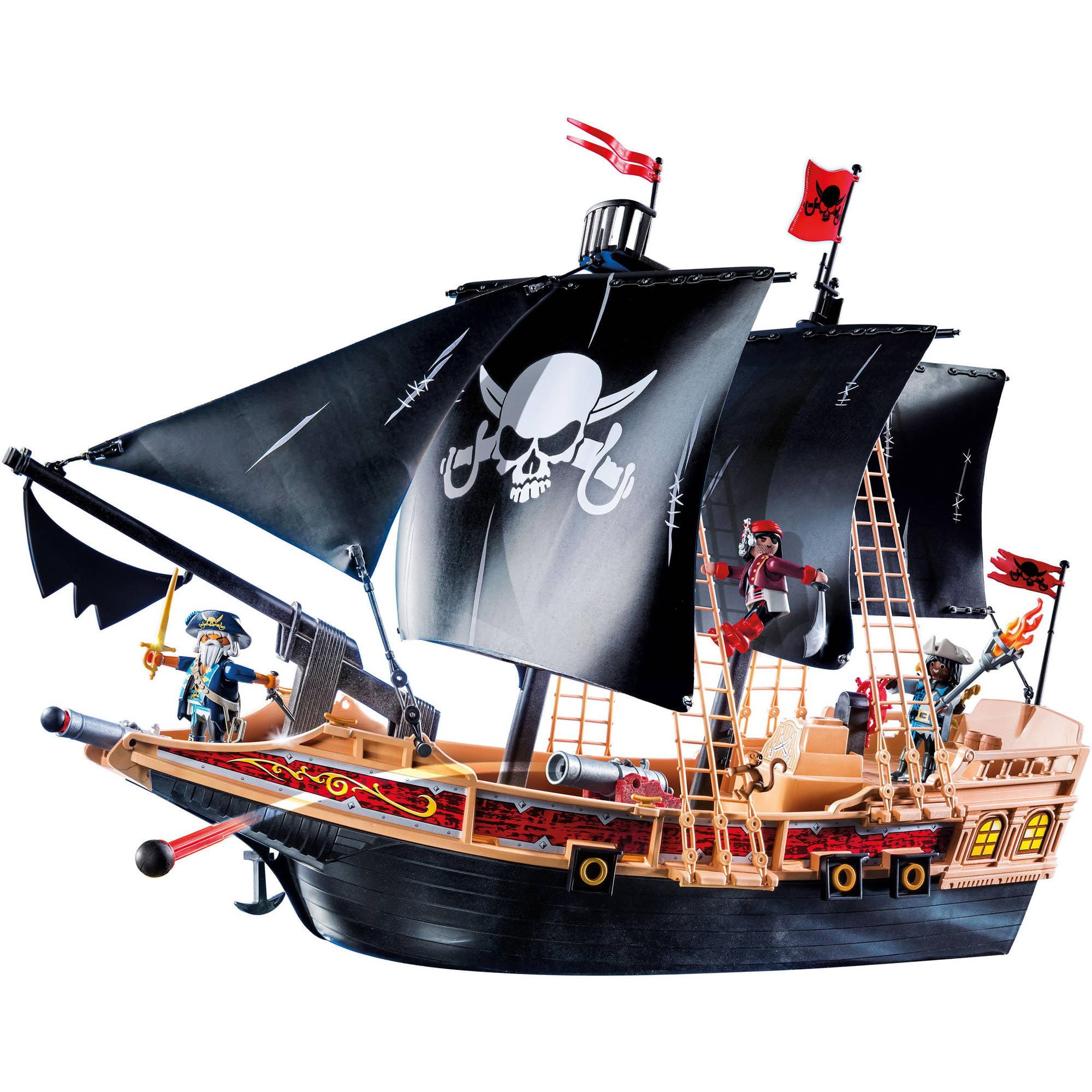 Большой пиратский корабль картинки