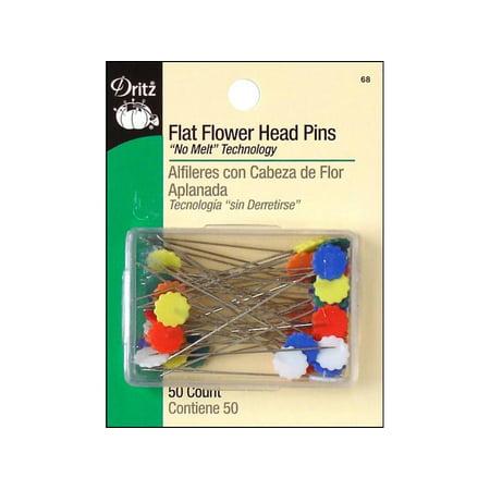 "Dritz Pins Flat Head Flower 2"" 50pc"