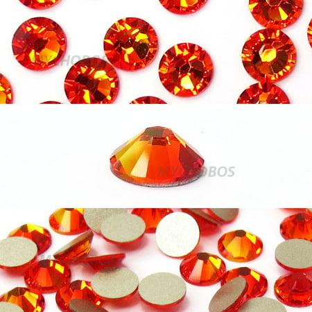Swarovski 144 pieces Fire Opal (237) NEW 2088 Xirius ss16 round Flat backs Rhinestones 4mm 1 gross -