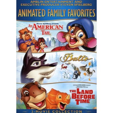 Animated Family Favorites 3-Movie Collection: An American Tail / Balto / The Land Before Time (Full Frame)