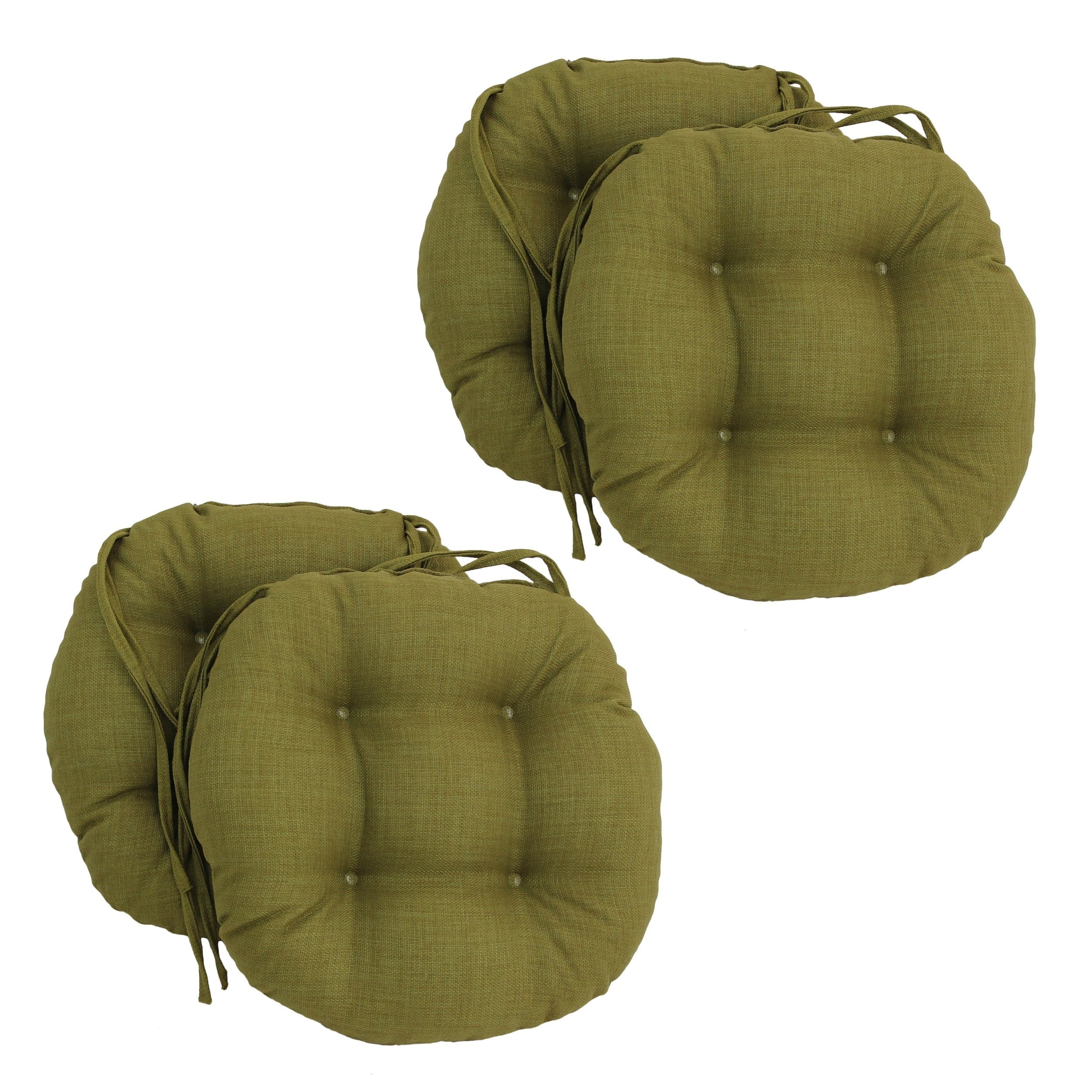 Prime Blazing Needles Solid 16 X 16 Inch Round Outdoor Chair Cushions Set Of 4 Caraccident5 Cool Chair Designs And Ideas Caraccident5Info