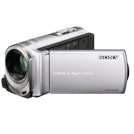 Sony DCR-SX43 4GB Flash Memory Camcorder (Silver) ()