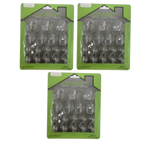 51Pc Suction Cup Hook Clear Glass Window Wall Sucker Hanger Kitchen Bathroom New ()
