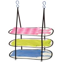 Honey Can Do Hanging Drying Rack with 3 tiers, Black (Pack of 2)