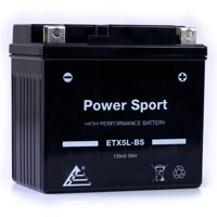 ExpertPower ETX5L-BS 12v5ah YTX5L-BS Replacement (5Ah, 12v, Sealed) Maintenance Free Battery