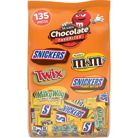 Mix Soiree Halloween (Mars Chocolate, Halloween Candy Variety Mix, Peanut & Caramel, 135 Ct, 69.8)