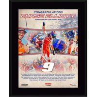 """Chase Elliott 10.5"""" x 13"""" First Monster Cup Victory Sublimated Plaque"""
