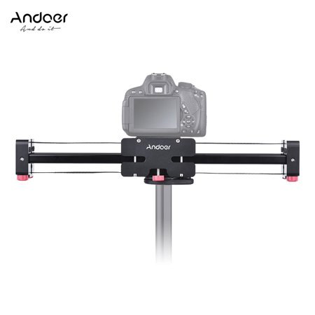 Andoer FT-52 Retractable Camera Video Slider Dolly Track Rail Stabilizer 52cm Length 104cm Actual Sliding Distance Aluminum Alloy Load Up to 8kg for Canon Nikon Sony DSLR