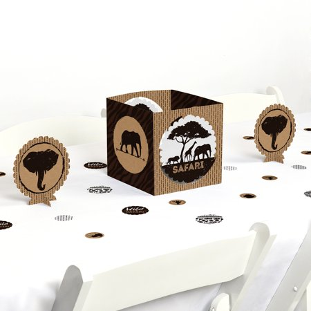 Wild Safari - African Jungle Adventure Birthday Party or Baby Shower Centerpiece & Table Decoration Kit - Safari Table Decorations