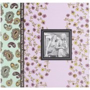 "Baby Dot Fabric Frame 2-Up Photo Album, 4"" x 6"", 200 Pockets"