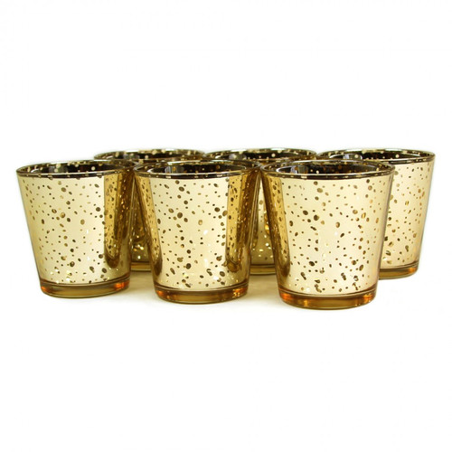 Koyal Wholesale Antique Glass Votive Cup (Set of 6)