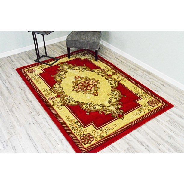 Traditional Design 206 Red Rug Oriental