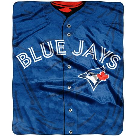 toronto blue jays 50 x 60 plush jersey blanket no size walmart com