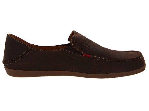 OluKai Tan Dark Java and Tan OluKai Nohea Nubuck Shoes W6.5 380861