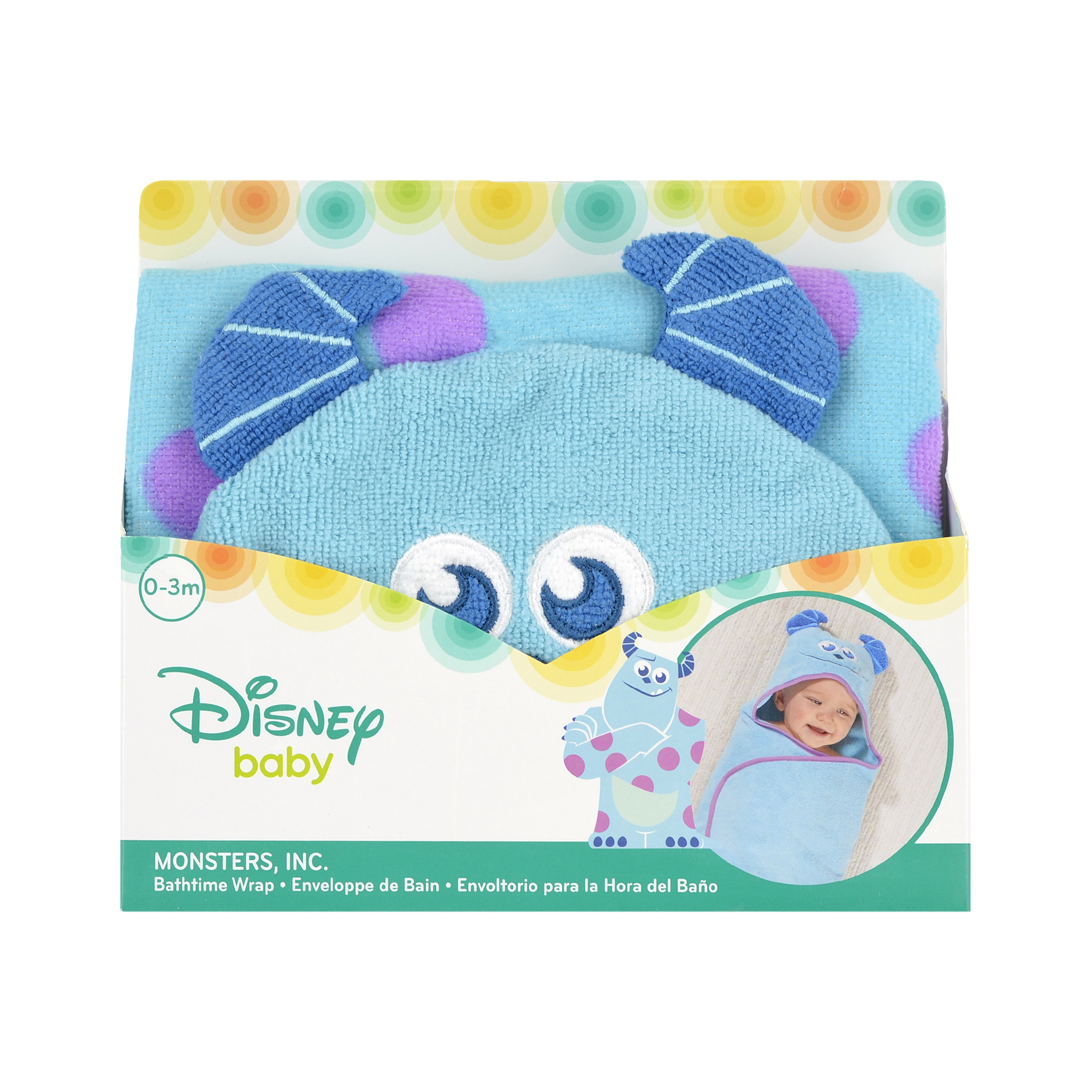 Disney Baby Monsters Inc. Sulley Embroidered Hooded Bath Swaddle ...