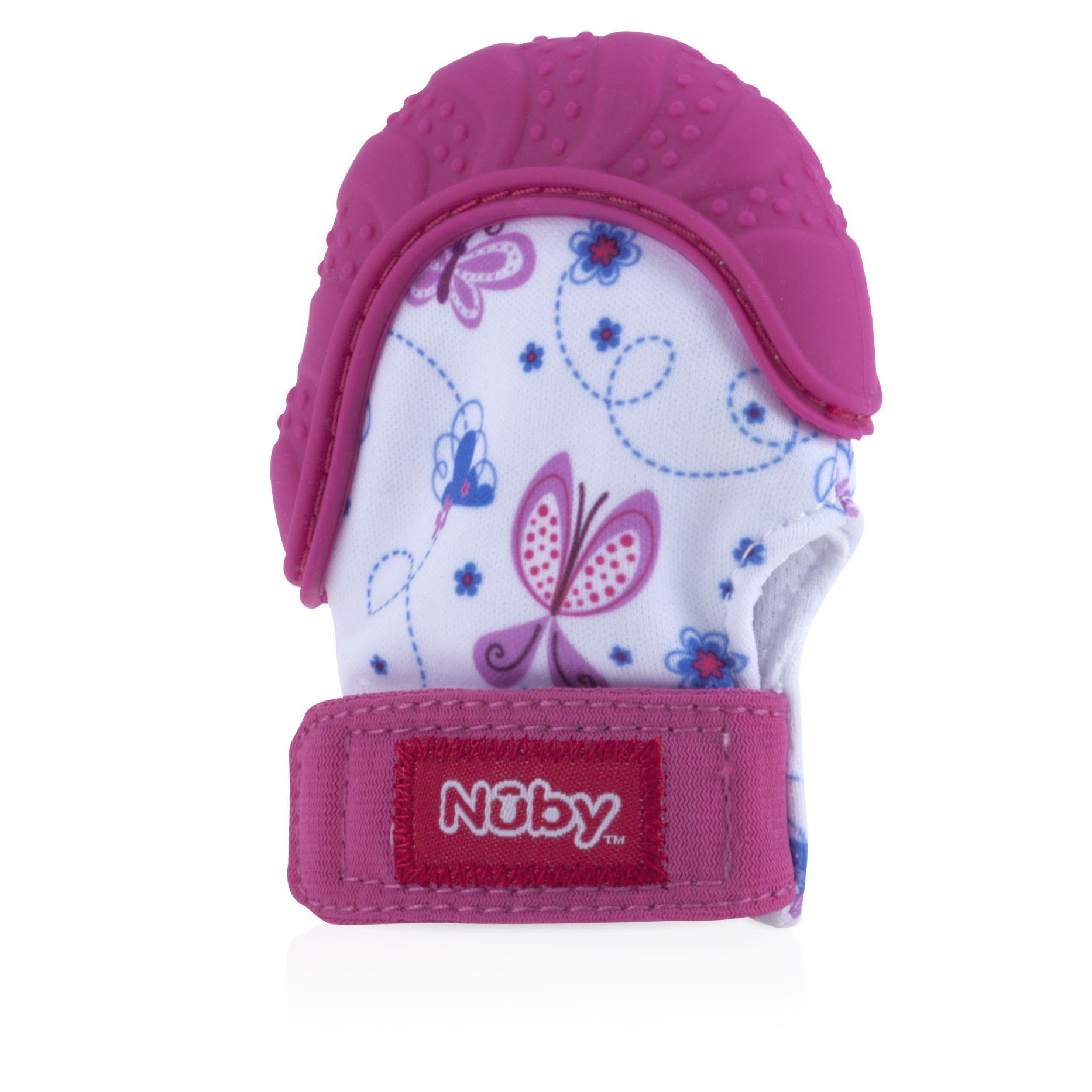 Rainbow Pink 3M+ Luv N Care//NUBY Nuby Happy Hands Silicone Teething Mitten