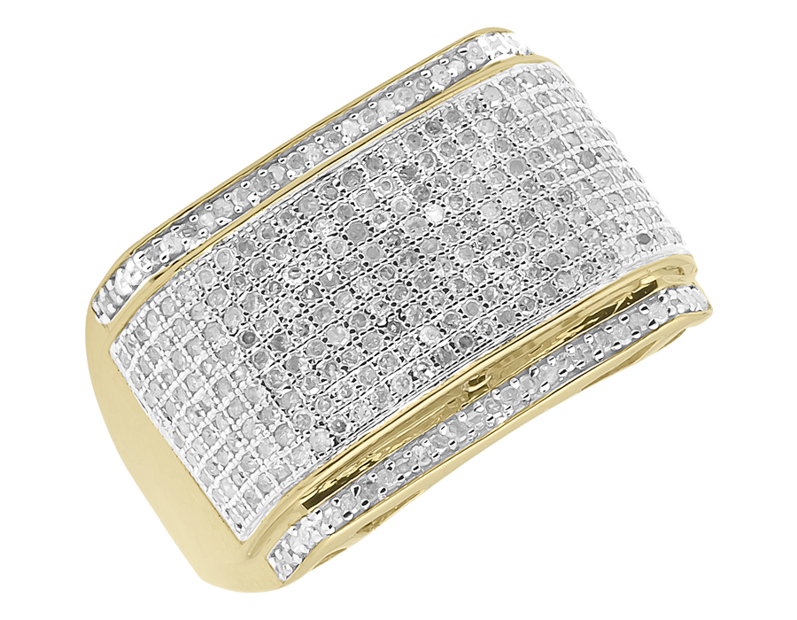 10k Mens Yellow Gold Diamond Fashion Pinky Ring (1.0 ct) by Jewelry Unlimited