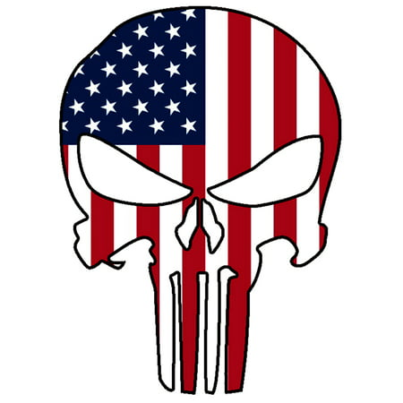 Punisher Skull Military American Flag #2 Us Sticker Decal Large 8