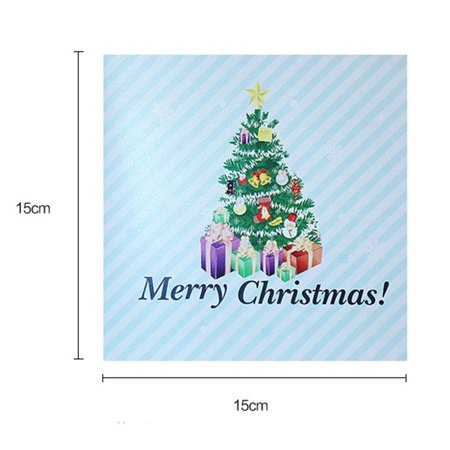 Homeholiday 3D Postcard Christmas Craft Invitations Handmade Greeting Gift Card Christmas Pop up Card Thank You Cards - image 2 of 6