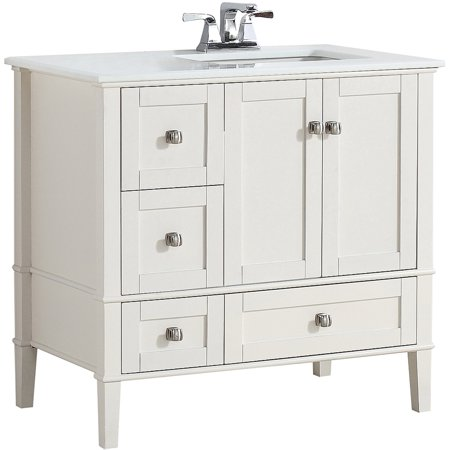 "BROOKLYN + MAX CHESAPEAKE 36"" SOFT WHITE RIGHT OFFSET BATH ..."