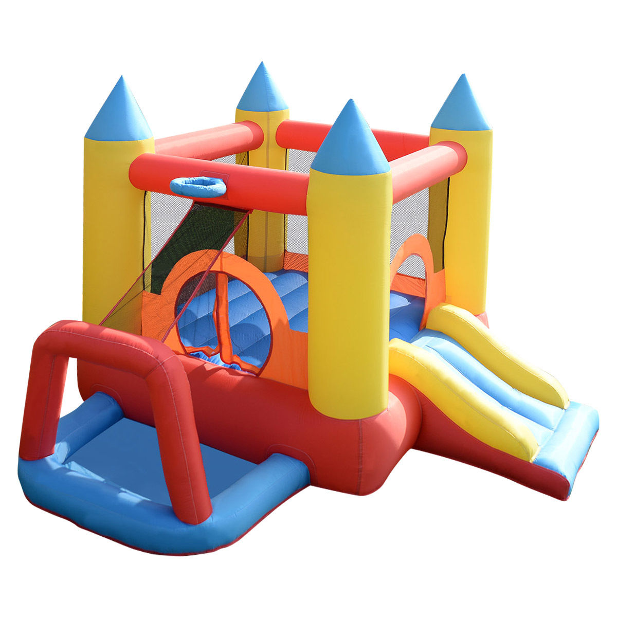Costway Inflatable Mighty Bounce House Jumper Castle Moonwalk Without Blower by Costway