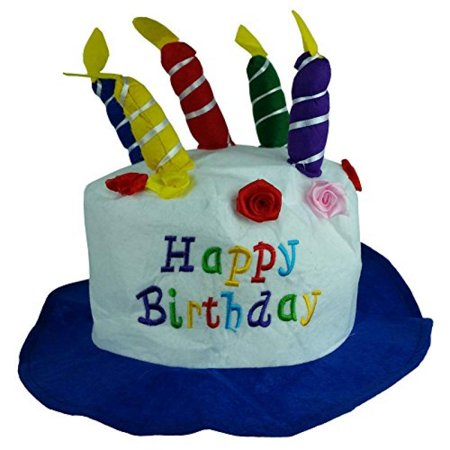 Felt Birthday Hat Cake With Candles Party Hats Unisex By Funny Party