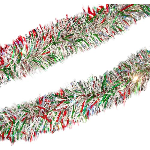 Northlight Seasonal Holographic Christmas Tinsel Garland with Unlit