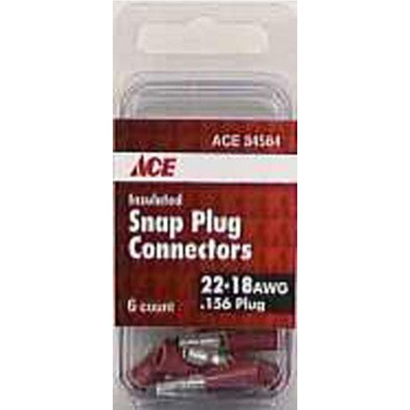 6Pk 22-18Awg Snap Plug Connectors Ace Wire Connectors 34564 082901345640