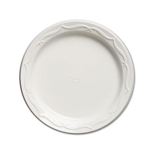"Genpak 70600 Aristocrat White ""Crystal Finish"" 6"" Impact Plastic Plates GNP70600"