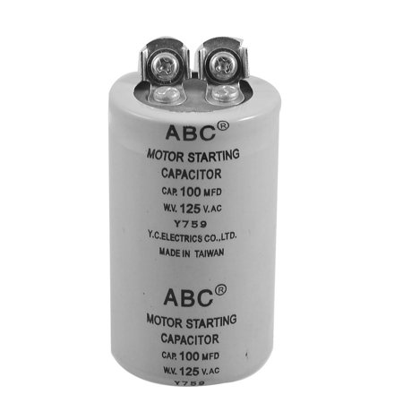 Cylinder 100mfd 125vac motor starting capacitor for 1 hp motor capacitor rating
