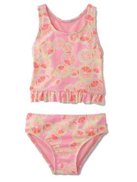 Joe Boxer Infant Toddler Girls 2 PC Sliced Fruit Swimming Suit Swim Tankini