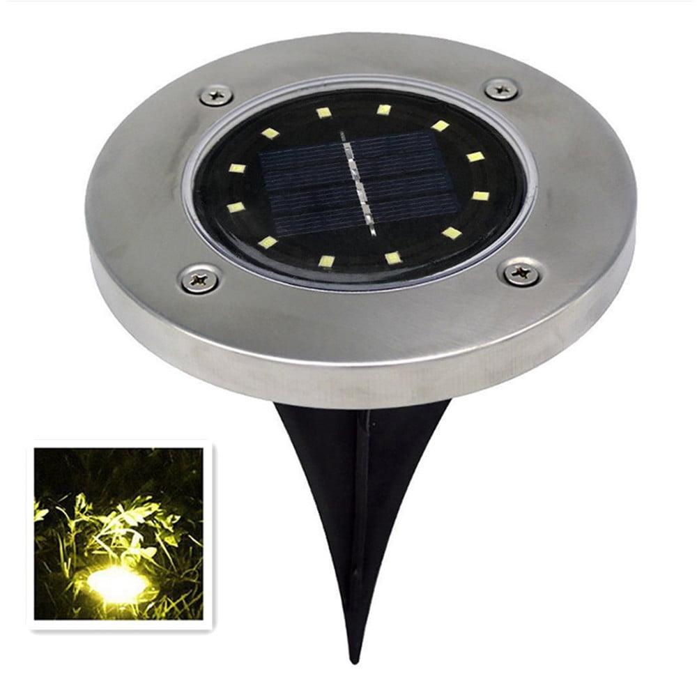 12 LED Solar-Powered Lawn Pin Lamp Light Sensor Buried