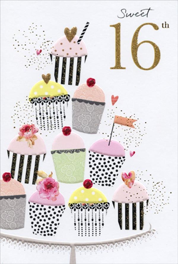 16th BIRTHDAY CARD GIRL