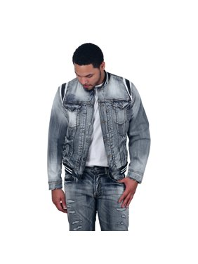 5a954fed25f1 Product Image Jordan Craig Barcelona Denim Varsity Jacket