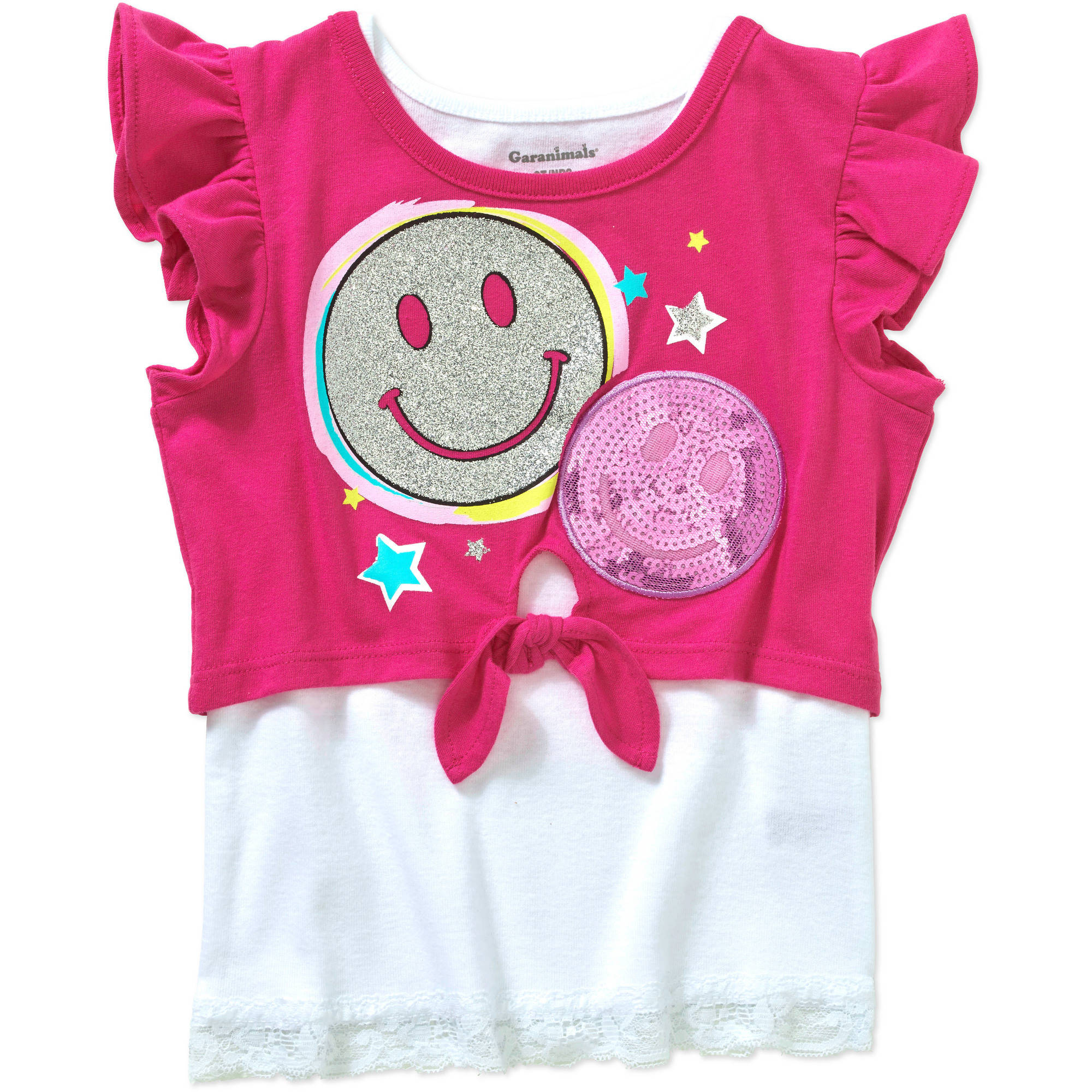 Garanimals Baby Toddler Girl Short Sleeve Graphic Crop Top