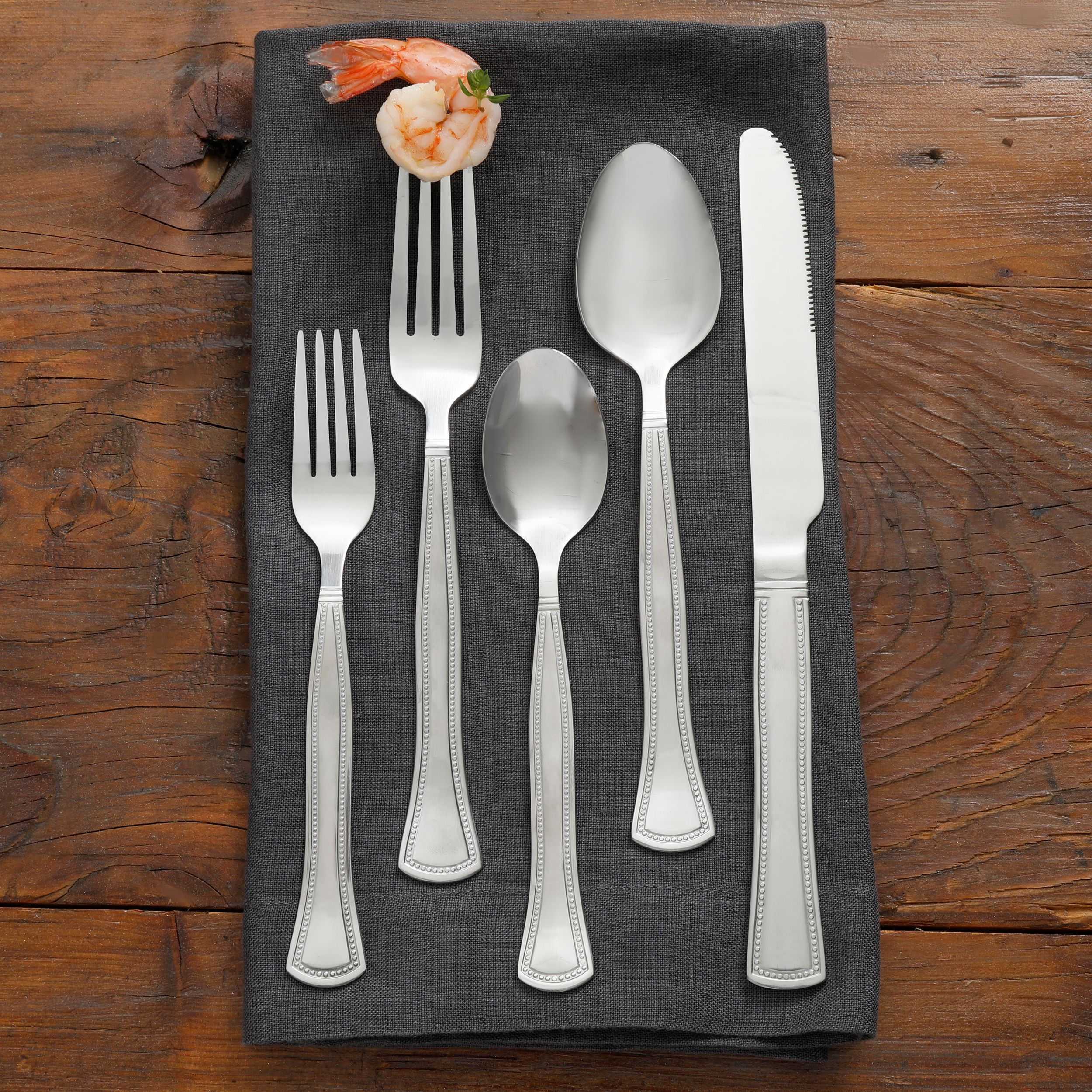 Gibson Home Lexington 45-Piece Flatware Set