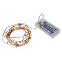 Northlight 20 Battery Operated LED Fairy Christmas Lights on Copper Wire