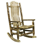 Glacier Country Collection Adult Log Rocker
