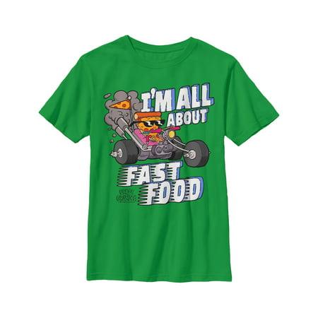Uncle Grandpa Boys' Pizza Steve Fast Food T-Shirt