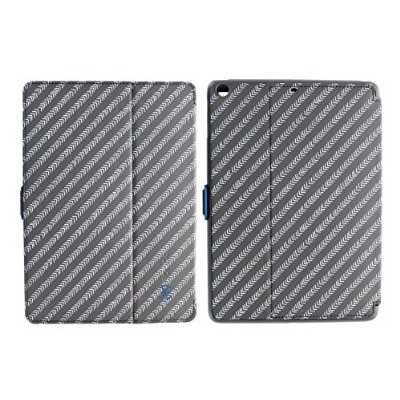 Speck Products StyleFolio Case and Stand for iPad Air (5th Gen) - MoveGroove Slate/Deep Sea Blue