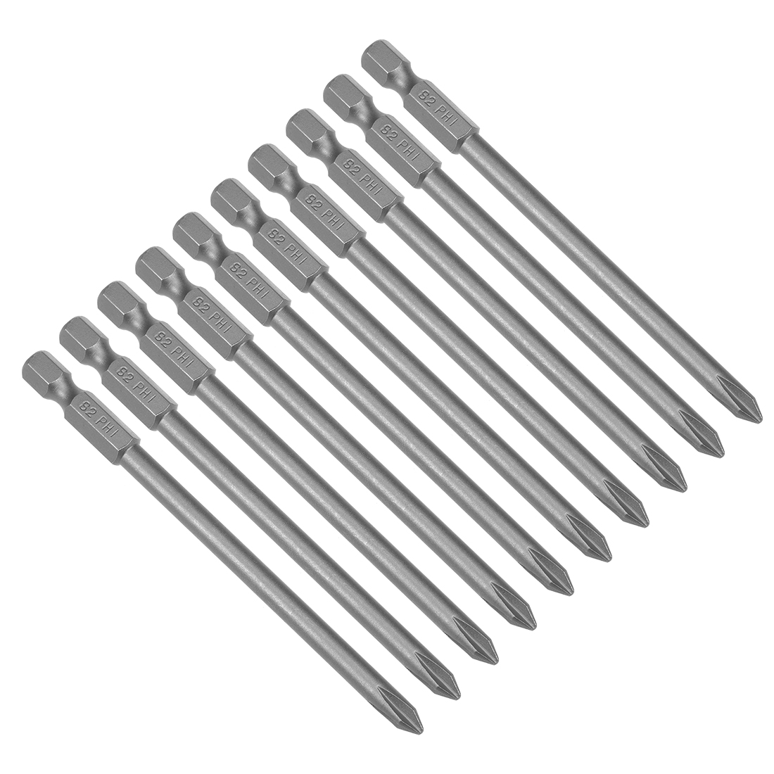 S2 Tool Steel Single Cross Screwdriver Bits with Circles Hex Shank ca